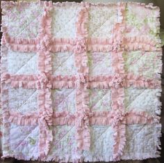 Baby Girl Minky Blanket Rag Quilt Shabby by LittleTreasureQuilts, $40.00