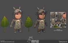 Totoro Boy – Ghibli Fan art