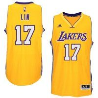 Mens Los Angeles Lakers Jeremy Lin adidas Gold