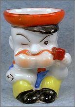 Porcelain Japan Figural Popeye Egg Cup, c.1930