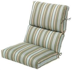 Bullnose High Back Outdoor Chair Cushion