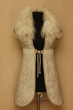 How about a winter wedding.... an excuse to wear this Northern fairytale / Felted Clothing / Vest by LybaV on Etsy, $300.00