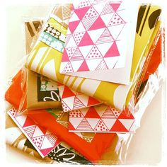 handprinted fabrics - so pretty! by blueberry4park on Flickr.