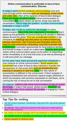 A for and against essay about online communication | LearnEnglish Teens | British Council