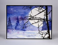 I have more winter scenery for you today because, let's face it, a snowy landscape can be so very pretty.On the snow scapes I posted last week I let the sky and trees blend a little; today's techn...