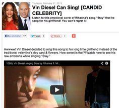 Vin Diesel Can Sing! [CANDID CELEBRITY]