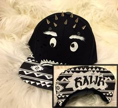 Items similar to Silly Monster- hand painted snapback on Etsy 55d8d8f98c04