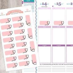 $3 20 Stethescope Medical Stickers Sheet  Pastel by HelloAshleyann