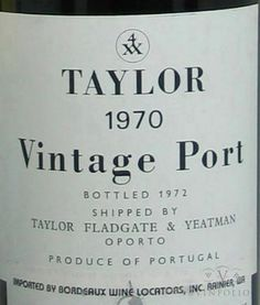Sommellerie: Porto Vintage Envelhecido