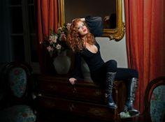 Michela Rigucci Luxury Adv Collection Fall/Winter 2013/2014 con particolare del nostro elegante e raffinato #Stivale in vitello nero.