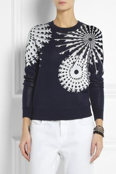 3.1 Phillip Lim|Snowflake-intarsia knitted sweater|NET-A-PORTER.COM