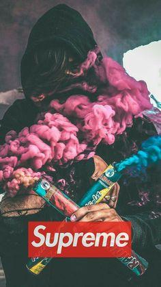 Supreme smoke bomb - My Wallpaper Wallpapers Android, Dope Wallpapers, Colorful Wallpaper, Cool Wallpaper, Mobile Wallpaper, Black Wallpaper, Smoke Wallpaper, Screen Wallpaper, Rauch Tapete