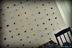 Lari Koze: DIY - cortina de corações, como fazer, decoração
