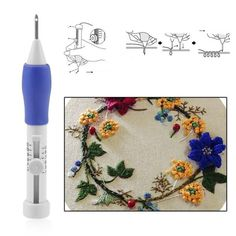 Embroidery is made easier with this Magic Embroidery Pen! The crafting needle handle is ergonomically designed and makes use of three different needle sizes: Small, Medium and Large. It is very convenient to use. There are two threader sizes: the bigger one is at the opposite end of punch needle and the small is for the needle eye. Have fun doing punching technique and enjoy making your own unique embroidery design! Make it happen with this Magic Embroidery Pen now! Type: Sewing NeedleUse…