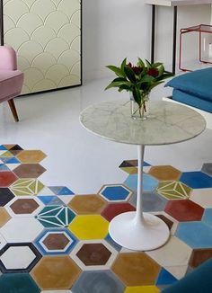 Indoor/outdoor #cement wall/floor #tiles HEXAGON SOLID COLOR - @TsourlakisTiles
