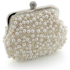 vintage pearl clutch bag in warm ivory : www.vintagestyler.co.uk @Vintage Styler