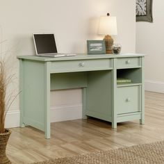 Sauder Original Cottage 2-Drawer Desk - The Sauder Original Cottage 2-Drawer Desk presents a transitional cottage style that's at home in any interior, including your choice of sof...