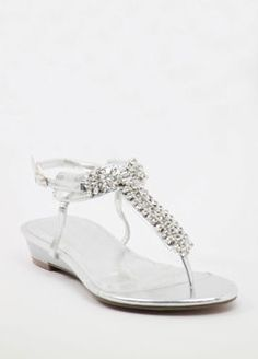 Silver Prom shoes with flat heels (Style 800-12)