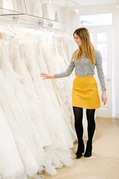 I asked my fiancé, mum and bridesmaid to choose their dream wedding dress for meghkuk London Blog, Dream Wedding Dresses, Mirror Mirror, Dream Dress, Leather Skirt, Fashion Beauty, Mini Skirts, Bridesmaid, How To Wear