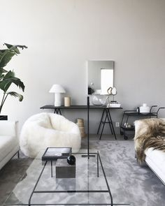 Grey, tan, black, and white is all you'll need for a stylish update to your summer decor. Make sure to add in some plants for a dose of life! p.s. as this color scheme is very neutral in nature, a...