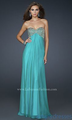 Strapless Sweetheart La Femme Dress at PromGirl.com