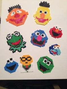 Sesame Street Perler Beads - Burt, Ernie, Grover, Kermit, Elmo, Gonzo, Cookie Monster, Oscar the Grouch, Bunsen