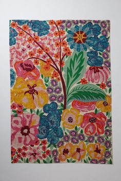 Hand-Embroidered Giverny Rug - Anthropologie.com #Anthropologie