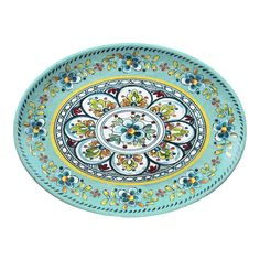 Have to have it. Le Cadeaux 16 in. Oval Platter - Madrid Turquoise - $31.5 @hayneedle