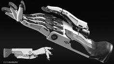 ArtStation - Robotic Hand Design, Edon Guraziu