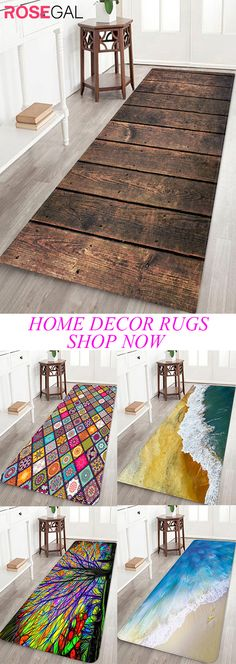 Rosegal wood print bathrug all kind of rugs home decor ideas rugs for hallway bedroom and livingroom Small Hallway Decorating, Best Duvet Covers, Small Hallways, Winter Home Decor, Craft Storage, Storage Ideas, New Crafts, Bath Rugs, Yurts
