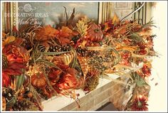 Fall mantle decoration