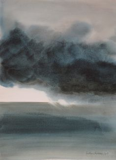 vjeranski:  Muriel Buthier-Chartrain Cela passera / It will pass Watercolour 49 x 67 cm / 2013