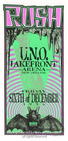 1996 Rush Silkscreen Concert Poster by Mark Arminski (MA-9638)