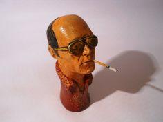 Hunter S Thompson ceramic handmade smoking pipe, $30.00