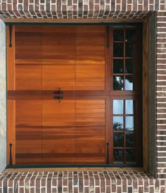 Model 5731 Western Red Cedar Wood Overlay Garage Door With Square Stockton  Top Glass Installed By The Richmond Store.