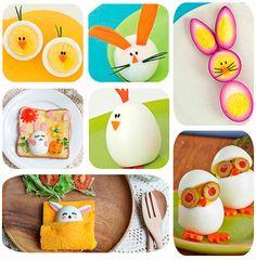 Recetas con huevo para Pascua ¡muy divertidas! Recetas fáciles y divertidas para Pascua con huevo: huevos rellenos, huevos con formas de conejos, huevos con pan.
