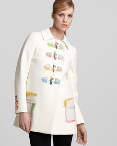 Moschino Cheap and Chic Trench Coat - Printed | Bloomingdale's