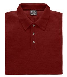 Signature Merino Wool Polo Sweater CLEARANCE