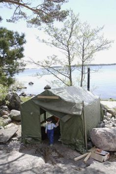 Tent Camping with Kids. This is the way we started out. I still have my grandfather's old army tent where it all started.