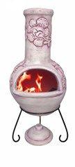 Large Clay Chiminea / Chimenea Garden Heater Outdoor Cooker