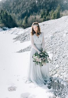Dusty Blue Wedding Dress Image 13 - Frosted Love in Styled Shoots. Blue Wedding Dresses, Flower Girl Dresses, Dusty Blue Weddings, Wedding Signs, Wedding Ideas, Shades Of Blue, Bridesmaid, Pure Products, Inspiration
