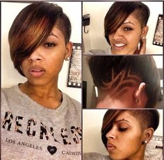 Short weave with shaved sides Instagram Hairstyles, Dope Hairstyles, My Hairstyle, Shaved Hairstyles, Beautiful Hairstyles, Wedding Hairstyles, Medium Hairstyles, Protective Hairstyles, Love Hair