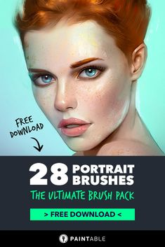 28 'Must-Have' Brushes for Beautiful Portraits Free Photoshop, Photoshop Brushes, Photoshop Tutorial, Digital Painting Tutorials, Digital Art Tutorial, Digital Paintings, Skin Paint, Skin Brushing, Portrait Sketches