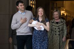 Pin for Later: The Clintons Depart From an NYC Hospital Looking Like Our Very Own Royal Family