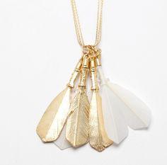 Mirit Weinstock feather necklace... I sense a good DIY