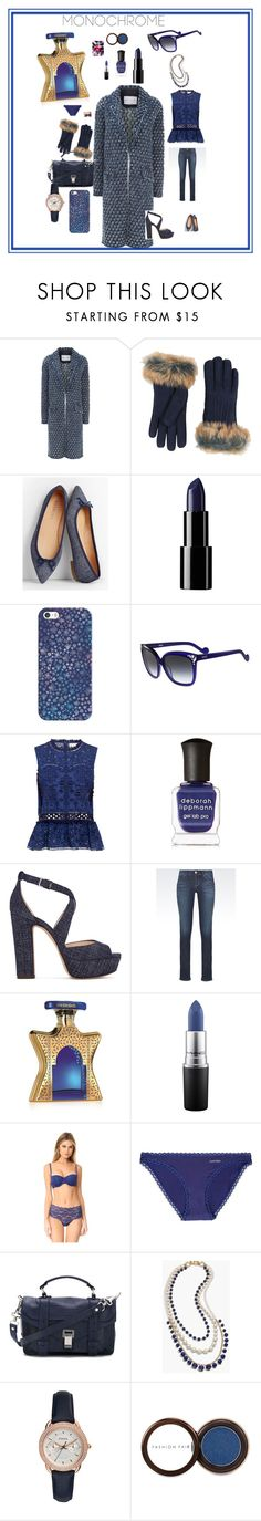 """Indigo Chick"" by cheryl-muscoe ❤ liked on Polyvore featuring Sonia Rykiel, UGG, Talbots, Casetify, LIU•JO, Sea, New York, Deborah Lippmann, Jimmy Choo, Emporio Armani and Bond No. 9"