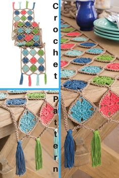 table runner pattern, table runner wedding Make this beautiful Jubilant Table Runner wi Crochet Table Runner, Table Runner Pattern, Crochet Classes, Crochet Projects, Crochet Home, Knit Crochet, Importance Of Light, Diy Barbie Furniture, Inspirational Gifts