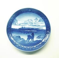 Vintage Husky Eskimo Inuit Greenland China Plate by Royal Copenhagen