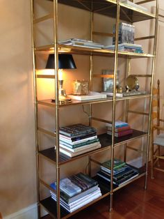 Watercress Springs Estate Sales Weston CT Moving Sale May 9th-10th, 2015 - Etegere with Black Shelving