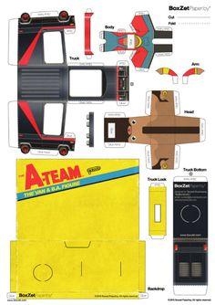 Le nouveau BoxZet est arrivé ! Encore une création exceptionnelle de ByManStudio, qui réunit le personnage, le véhicule (ici le fameux van de l'Agence tous risques) et la boîte de présentation. A télécharger d'urgence en lisant la suite… On avaitLire la suitePapercraft BoxZet A-Team A Team Van, Cardboard Design, Diy Dollhouse, Dollhouse Furniture, The A Team, Jumping Jacks, Paper Models, Paper Toys, Holiday Crafts
